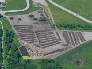 Bird's Eye View of Compost Pad at HWMS