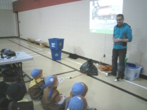 7th Milton Beavers (Colony A) take part in a waste diversion workshop led by Halton Region staff