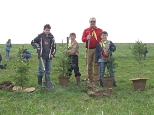 Scout Tree Planting at the Halton Waste Management Site
