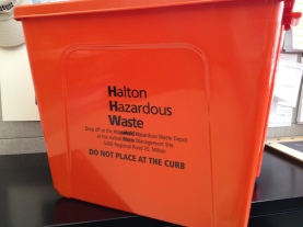 Collect, store and safely transport your household hazardous waste in the Orange Box.