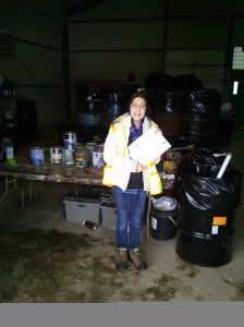 I conducted surveys at Halton's Household Hazardous Waste Depot.