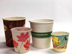 Examples of paper cups which can go in the GreenCart
