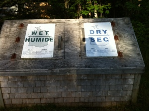 "The ""wet"" and ""dry"" waste station at Fundy National Park, New Brunswick"