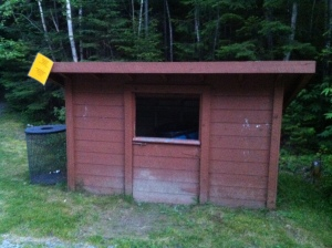 "The waste ""shack"" at Mount Carleton Provincial Park, New Brunswick."