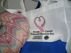 A mastectomy kit provided by Breast Cancer Support Services