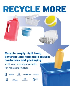 An example of the Recycle more print advertisement