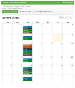 Online Calendar Tool
