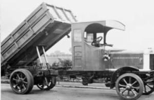A gas powered collection vehicle operated by Westminster Wharfage, Great Britain.