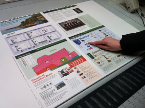 "Doing ""press approvals"" of the new 2014 Waste Management Guide & Collection Calendar"